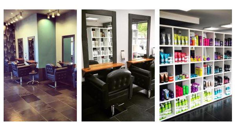 inside stone hair salon, canterbury
