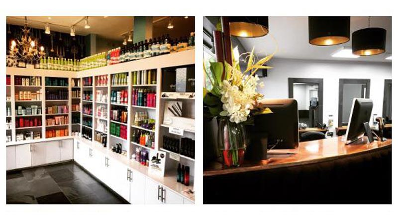 inside stone hairdressing salon in canterbury and kings hill