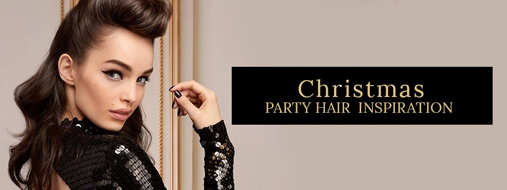 christmas party hair inspiration banner